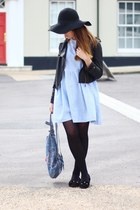 sky blue Joe Browns via Ebay bag - light blue check gingham DIY dress