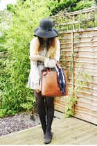 black Primark hat - burnt orange Ebay bag - silver Pull & Bear skirt