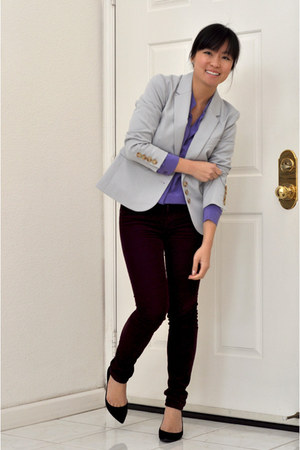 madewell blazer - blouse - Gap pants - pointy pumps Nine West heels