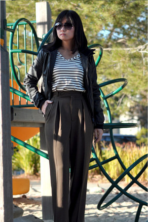 thrifted pants - moody bomber Superdry jacket - Amour Vert t-shirt