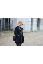 black Alexander Wang bag - navy new look coat