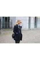 black Alexander Wang bag - navy new look coat