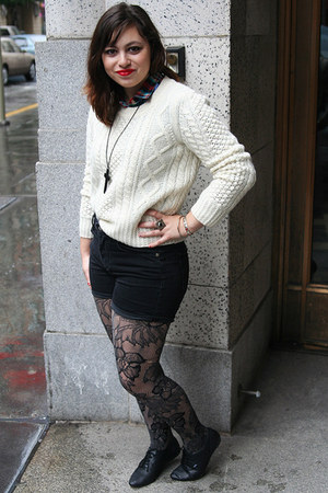 off white alexa chung madewell sweater - black Vans shoes