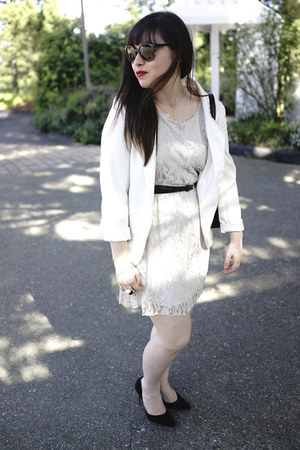 black Urban Outfitters sunglasses - silver lace hello MISS dress