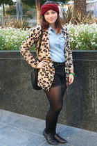 black oxfords Vans shoes - bronze leopard print Victorias Secret sweater