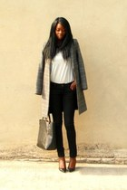 gray checked Zara coat