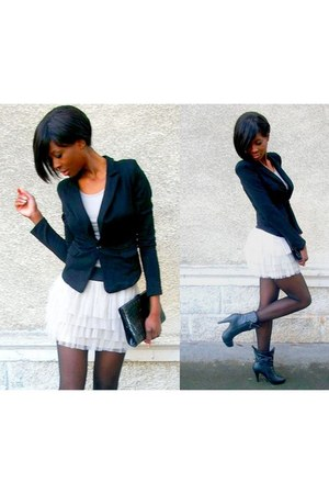 peach tutu new look skirt - black Bershka blazer