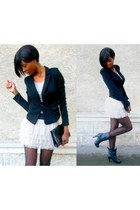 peach tutu new look skirt - black Bershka blazer