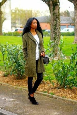army green asos coat