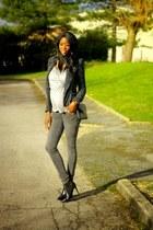 black tweed Zara jacket