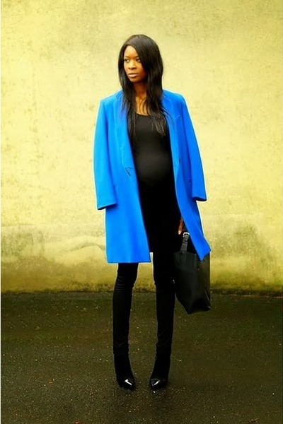 blue boyfriend etam coat
