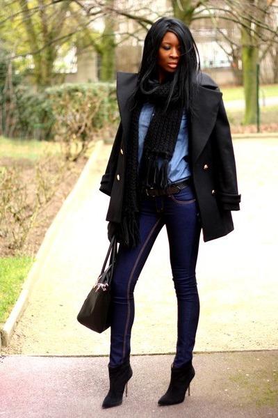 black officer Zara coat
