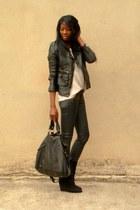 black coated Zara pants