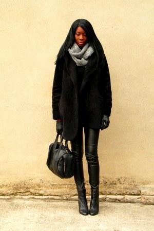 black Bata boots