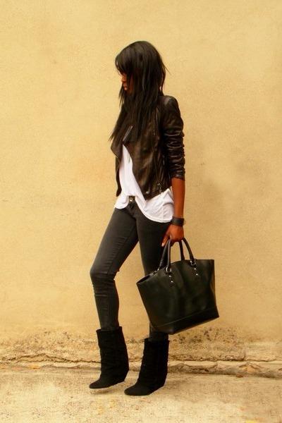 black DIY boots