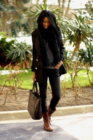 black Zara coat
