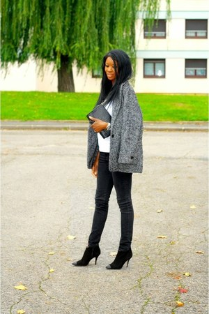 heather gray Mango coat