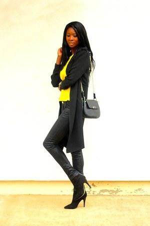 black asos coat