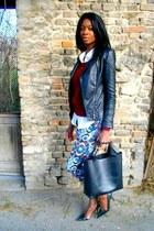 blue navajo print Zara pants