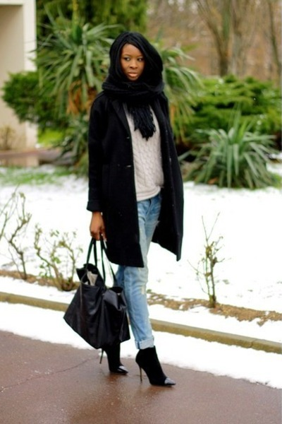 black 3 suisses coat