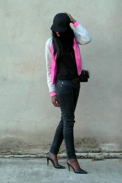 hot pink teddy Ellos jacket