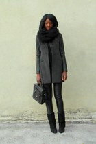 dark gray Forever21 coat
