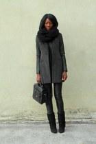 dark gray Forever21 coat