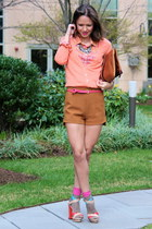 Vince Camuto sandals - JCrew shirt - H&M shorts