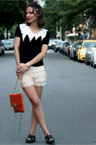 Zara shorts - stuart weitzman shoes - brooklyn industries sweater