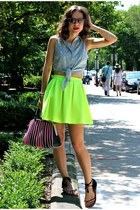 Tobi skirt - Hugo Boss bag - rayban sunglasses - Candela NYC sandals - asos top