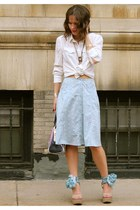 asos skirt - Hugo Boss bag - Pierre Hardy for Gap wedges