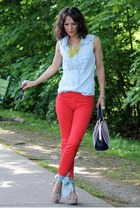 Gap pants - Hugo Boss bag - Ray Ban sunglasses - karen millen top