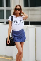 Feline t-shirt - Prada sunglasses - rachel roy skirt