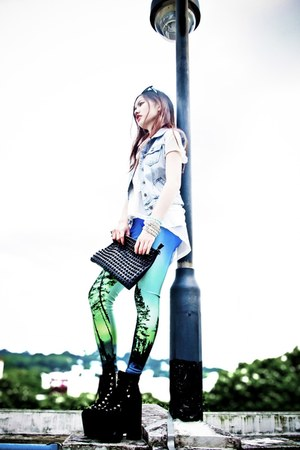 UNIF shoes - aurora leggings Black Milk Clothing tights