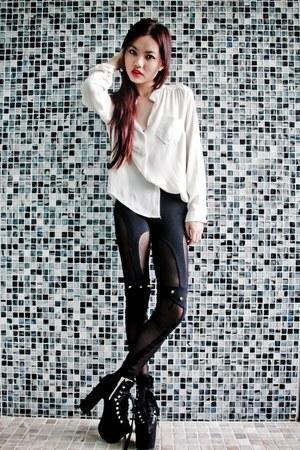 platforms UNIF shoes - stud leggings Untitled Label leggings
