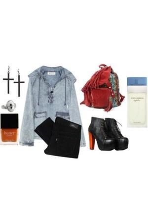 Jeffrey Campbell bag - Levis jeans - Jeffrey Campbell heels - earrings - hoodie