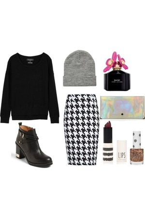chunky Topshop boots - beanie asos hat - knit pullover rag & bone sweater