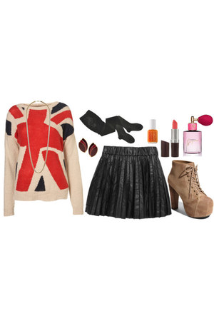 sweater - skirt - Jeffrey Campbell heels
