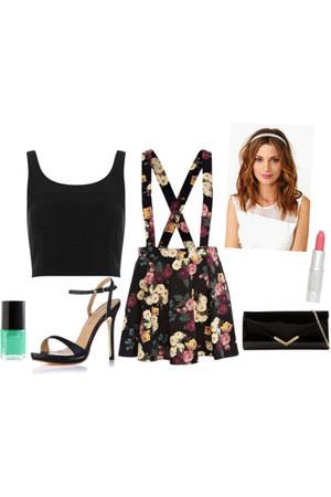 dress - purse - top - sandals