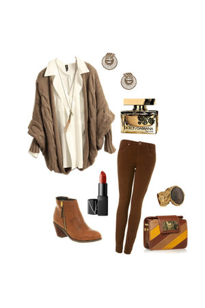 boots - purse - pants - top - YSL ring - earrings
