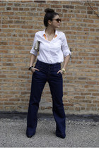 violet Urban Outfitters jeans - black H&M shoes - white banana republic shirt