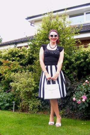 embellished Zara t-shirt - midi Principles skirt - leather Faith sandals
