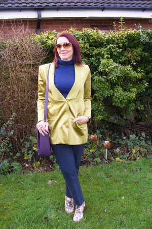 chartreuse Matthew Williamson blazer - purple Jennifer Hamley bag