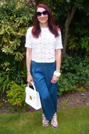 lace asos top - asos pants