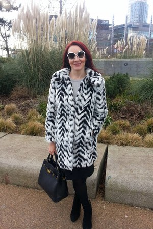 faux fur Marks and Spencer coat