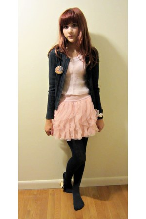 Gap tights - sweater - Gap skirt - Gap cardigan