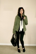 Zara jacket - banana republic scarf - ae shirt - American Apparel leggings - ban