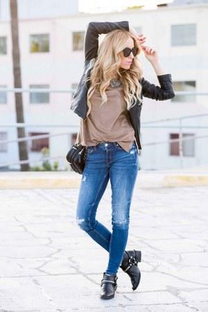 Zara jeans - Boohoo jacket - Zara top