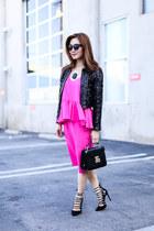 1State dress - rag & bone jacket - Rebecca Minkoff bag - Aquazzura pumps