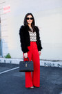 Topshop-jacket-saint-laurent-bag-j-crew-top-alice-olivia-pants